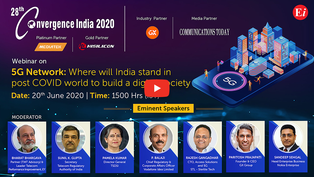 Webinar on 5G Network: Where will India stand in Post COVID-19 World to build a Digital Society