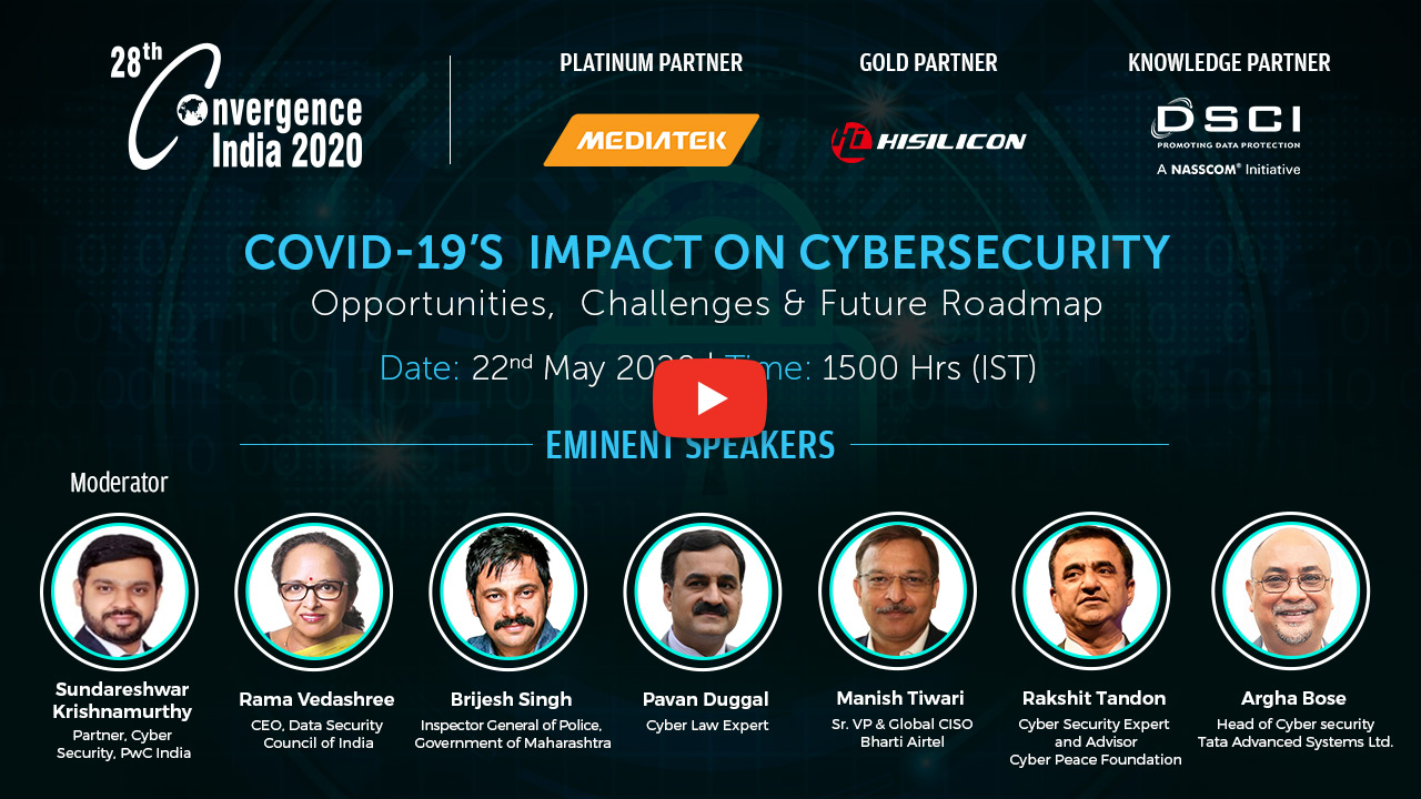 Webinar on COVID-19's  Impact on Cybersecurity: Opportunities,  Challenges & Future Roadmap