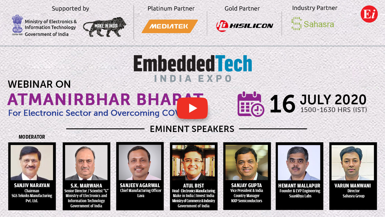 Webinar on Atmanirbhar Bharat for Electronic Sector and Overcoming COVID-19
