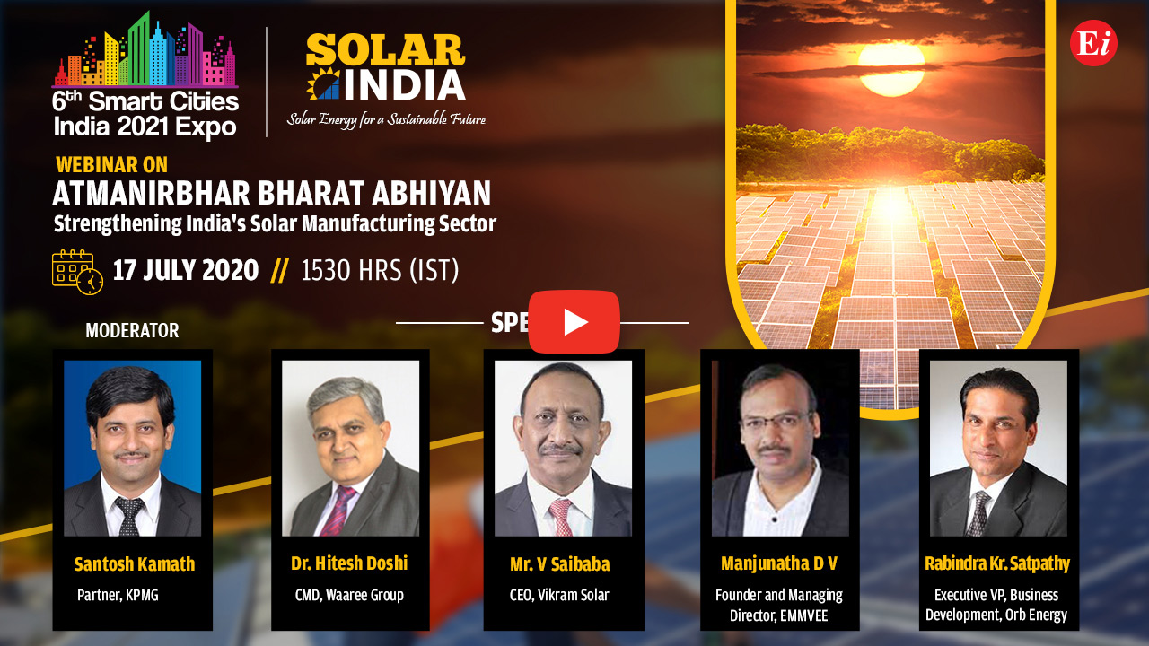 Webinar on Atmanirbhar Bharat Abhiyan Strengthening India's Solar Manufacturing Sector
