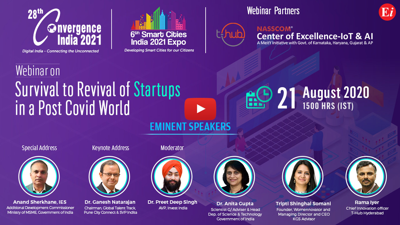 Webinar on Survival to Revival of Startups in a Post COVID World