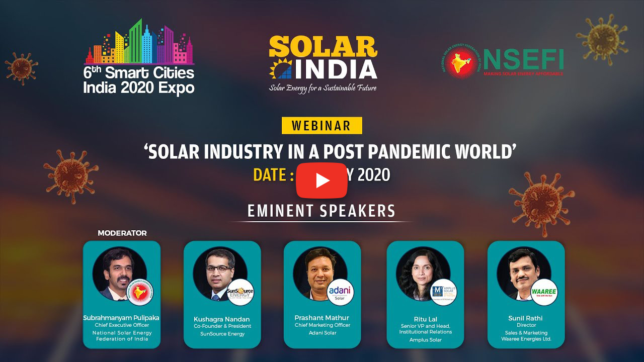 Webinar on Solar Industry in a Post Pandemic World